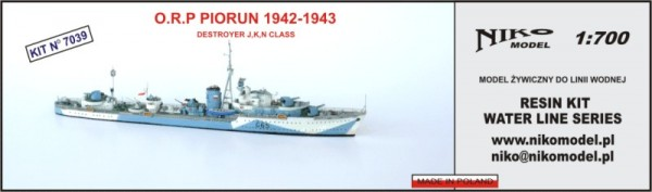 Polish Destroyer PIORUN 1942-1943