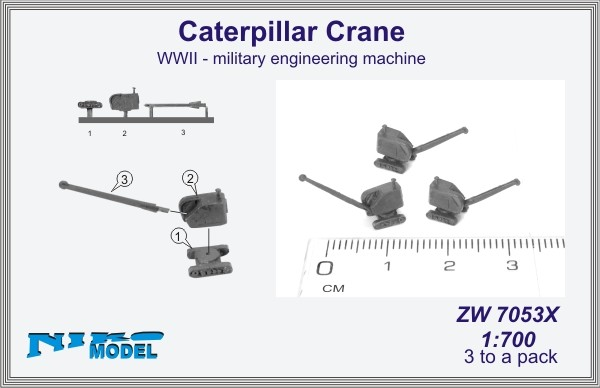 Caterpillar Crane  WWII - military engineering machine