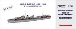 H.M.S. DARING H-16 1940