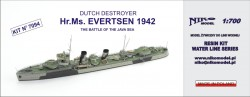 DUTCH DESTROYER - Hr.Ms. EVERTSEN 1942