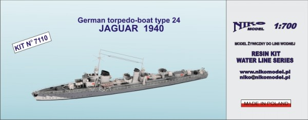 German torpedo-boat type 24 JAGUAR  1940