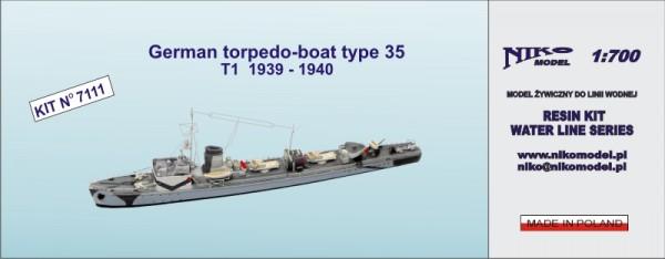 German torpedo-boat type 35  T1  1939 - 1940