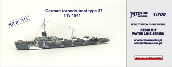 German torpedo-boat type 37 T18 1941