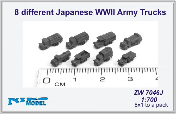 8 different Japanese WWII Army Trucks