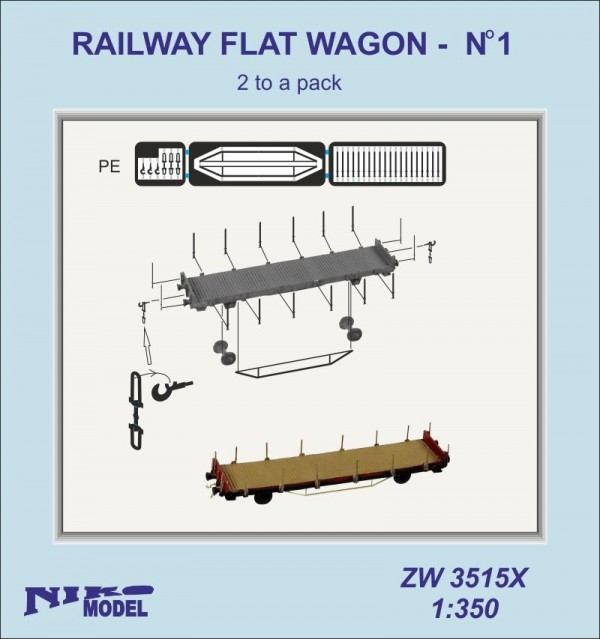 RAILWAY FLAT WAGON - no1